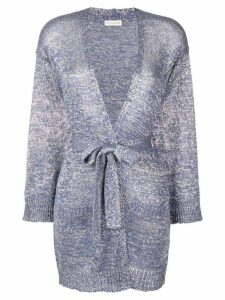 Etro lurex knit cardigan - Blue