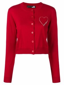 Love Moschino logo cardigan - Red