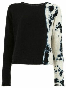Suzusan tie-dye detailed jumper - Black