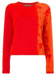 Suzusan tie-dye detailed jumper - Orange