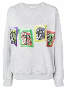 Etro comic strip logo print jumper - Grey