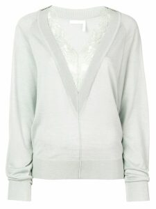 Chloé lace trim jumper - Grey
