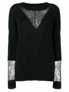 Almaz cable knit jumper - Black