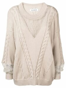 Almaz cable knit jumper - Neutrals