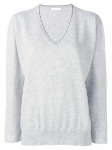 Fabiana Filippi metallic trim jumper - Grey