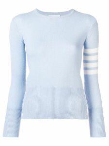 Thom Browne 4-Bar Cashmere Pullover - Blue