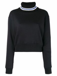 MSGM contrast knit sweater - Black