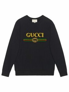 Gucci Oversize sweatshirt with Gucci logo - Black