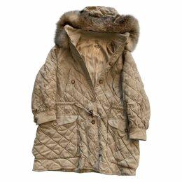 Beige Viscose Coat