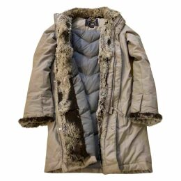 Grey Polyester Coat