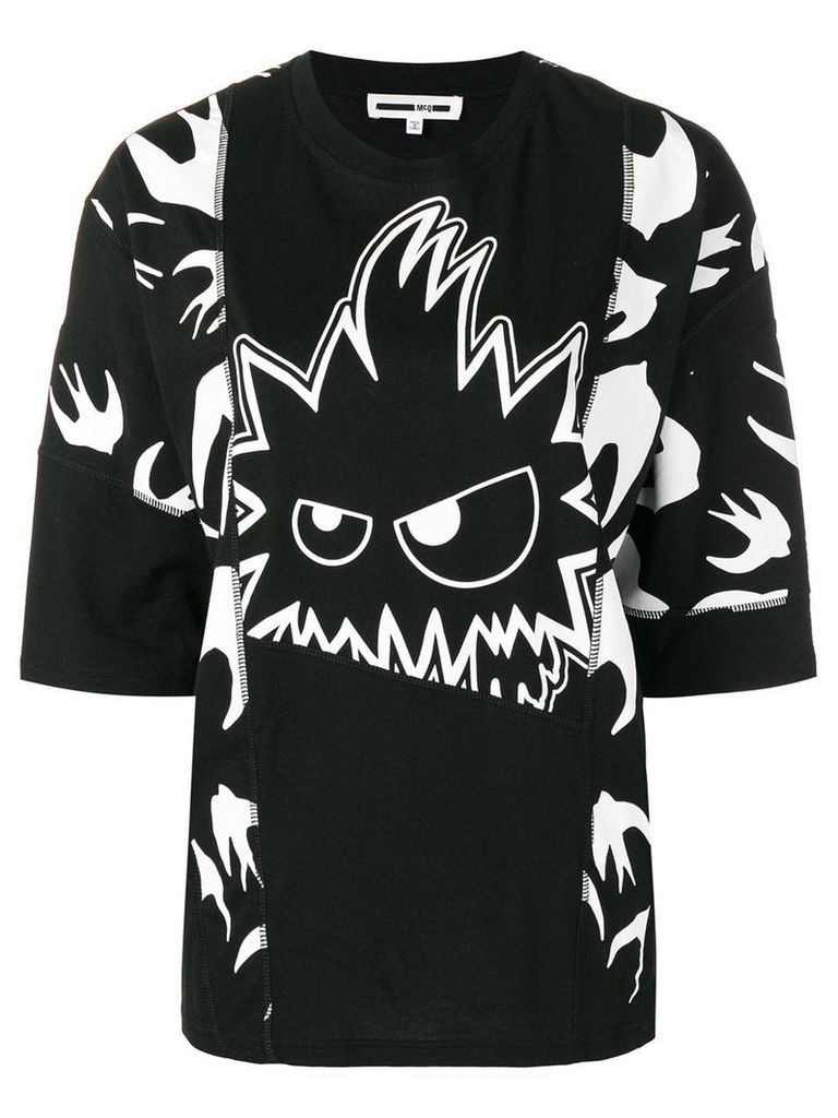 McQ Alexander McQueen all over print T-shirt - Black