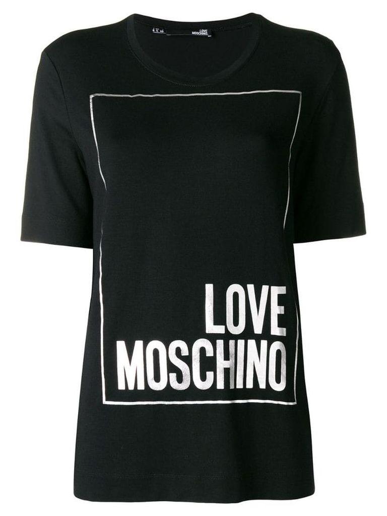 Love Moschino logo short-sleeve T-shirt - Black