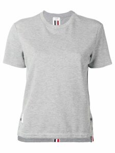 Thom Browne Rwb Stripe Relaxed Piqué Tee - Grey