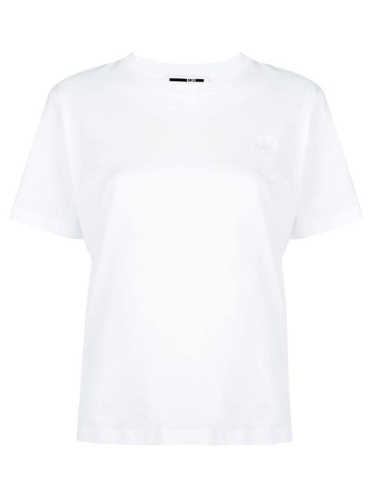 McQ Alexander McQueen embroidered swallow T-shirt - White