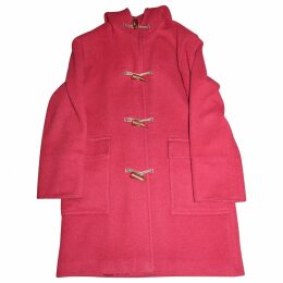 Red Polyester Coat