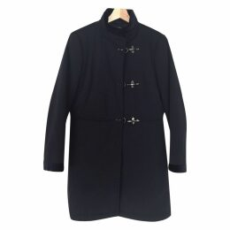Blue Polyester Coat