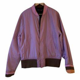 Purple Polyester Coat