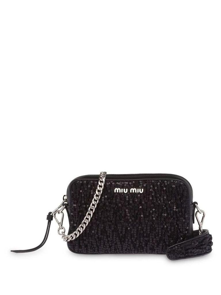 Miu Miu sequin shoulder bag - Black
