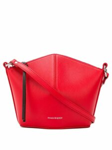 Alexander McQueen hexagonal crossbody - Red