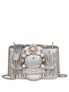 Miu Miu Lady matelassé crossbody bag - Silver