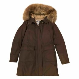 Brown Polyester Coat