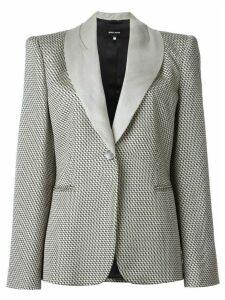 Giorgio Armani Pre-Owned zig zag woven blazer - Neutrals
