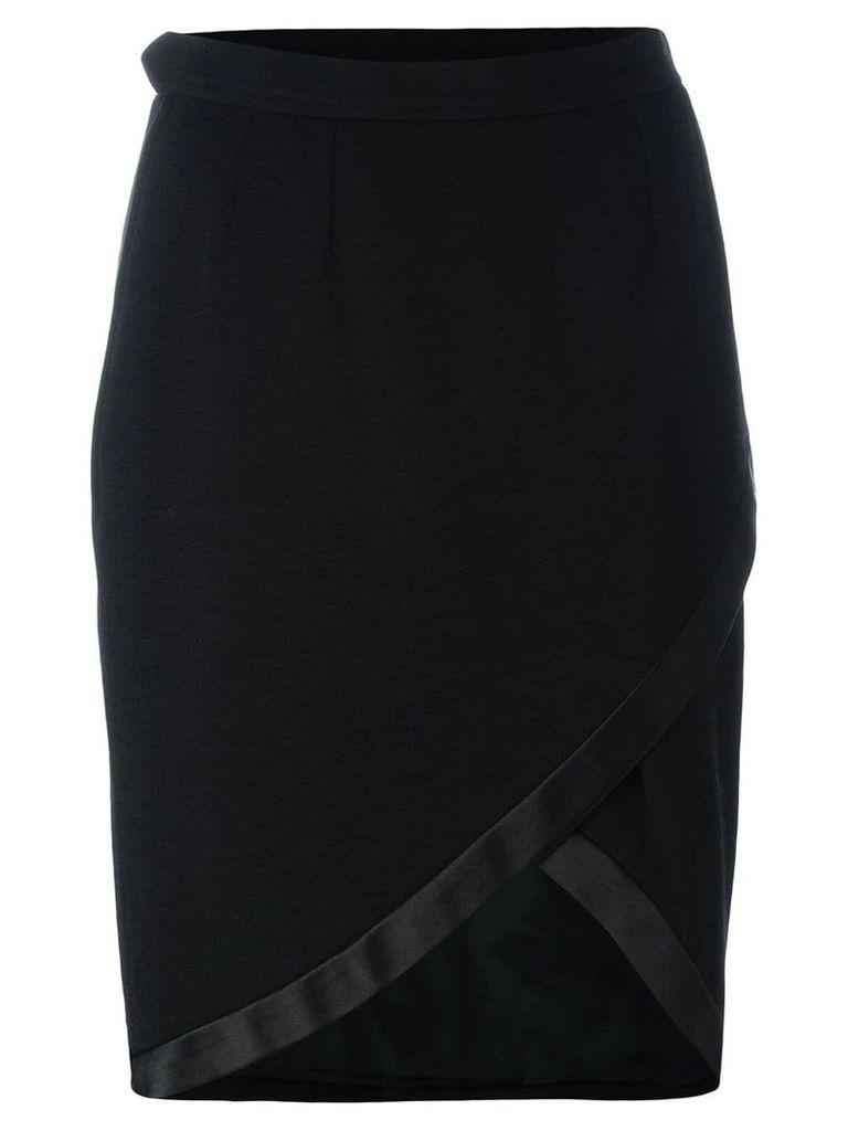 Yves Saint Laurent Vintage asymmetrical wrap skirt - Black