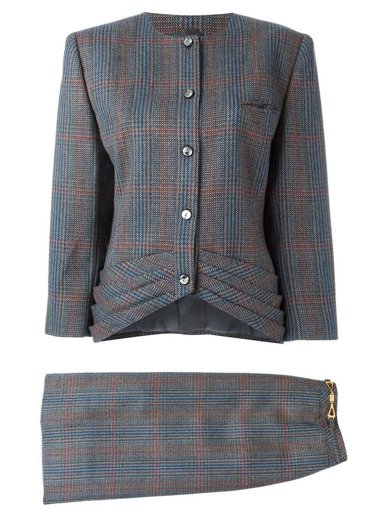 Louis Feraud Vintage tweed skirt suit - Multicolour