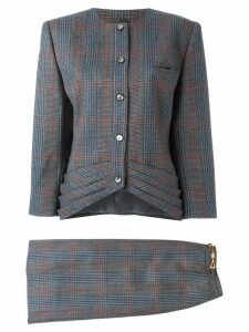 Louis Feraud Pre-Owned tweed skirt suit - Multicolour