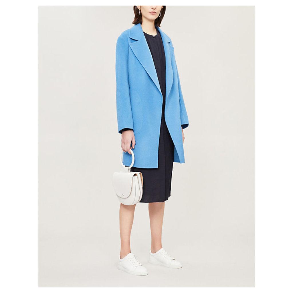 Boy notch-lapel wool and cashmere-blend coat