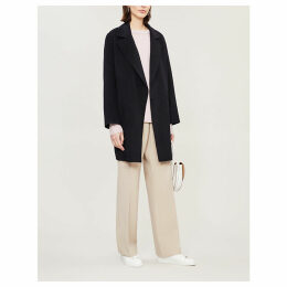 Boy notch-lapel wool and cashmere-blend coat