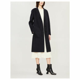 Classic notch-lapel wool and cashmere-blend coat