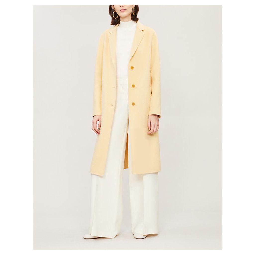 Classic notch-lapel wool and cashmere-blend coat