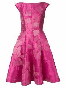 Talbot Runhof floral jacquard midi dress - Pink