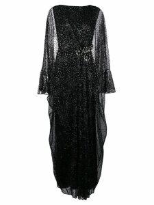 Talbot Runhof metallic long tulle dress - Black