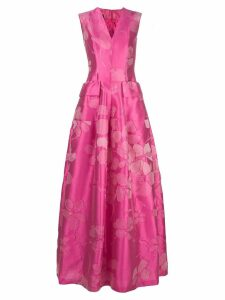 Talbot Runhof floral jacquard full dress - Pink