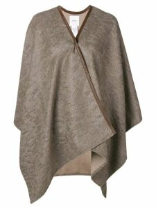 Agnona draped cardi-coat - Neutrals