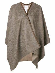 Agnona draped cardi-coat - Neutrals