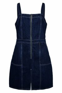 Womens Glamorous Curve Pinafore Dress -  Blue