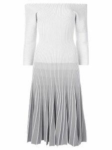 Alaïa Pre-Owned 2000 striped dress - Grey