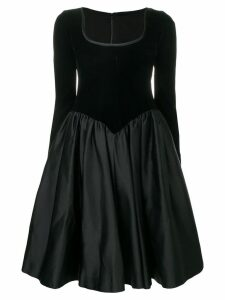 Yves Saint Laurent Pre-Owned 1990's flared dress - Black
