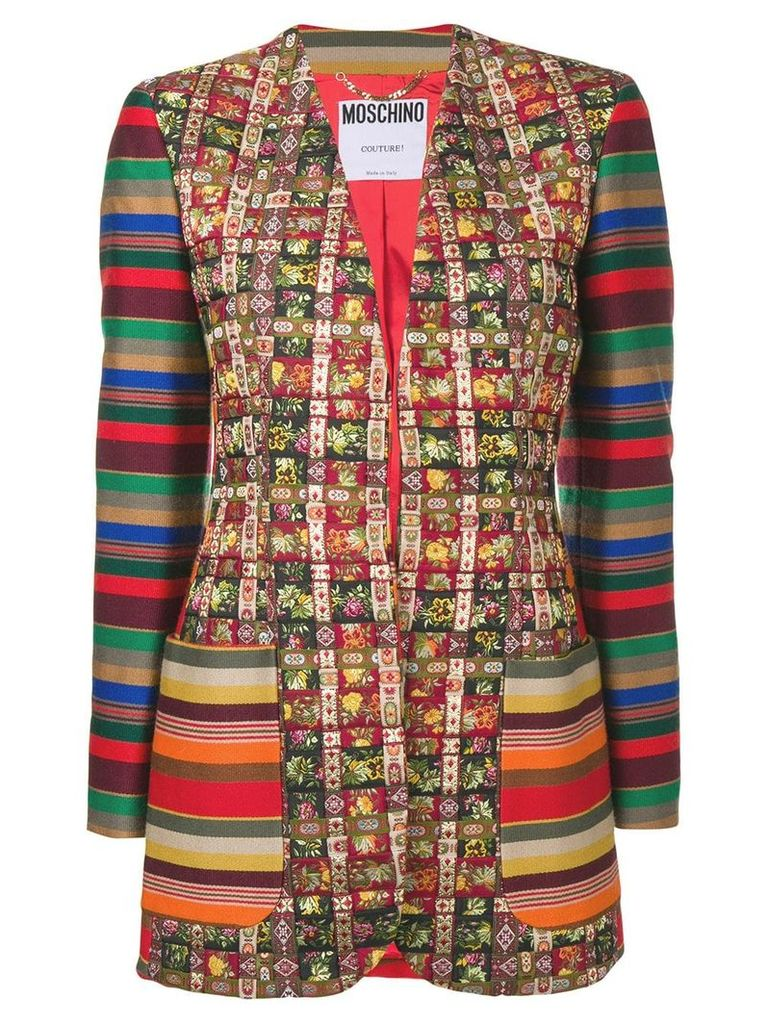 Moschino Vintage 1990's patchwork jacket - Red