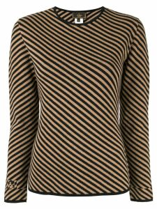 Fendi Pre-Owned diagonal striped jumper - Brown