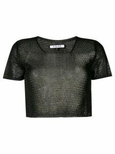 Fisico mesh knit cropped top - Black
