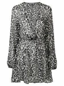 Fisico leopard print cover up - Black