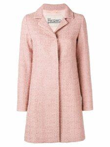 Herno concealed front coat - Pink
