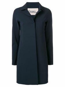 Herno concealed front coat - Blue