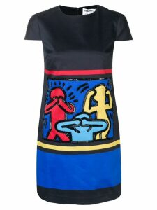 Alice+Olivia AO x Keith Haring embellished dress - Blue