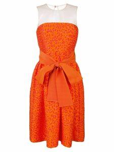 P.A.R.O.S.H. leopard-cloqué cocktail dress - Orange