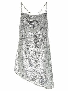 Sandy Liang Tonya cowl neck spaghetti strap dress - Silver
